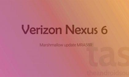 Verizon Nexus 6 Marshmallow OTA rolling out now