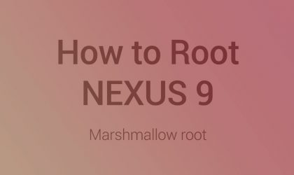 Nexus 9 Marshmallow Root