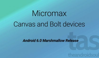 Micromax Marshmallow Update plans [Android 6.0]