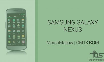 Download Galaxy Nexus Marshmallow Update: CM13 and other ROMS