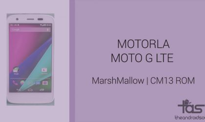 Download Moto G 2014 LTE  Marshmallow Update: CM13 and other ROMs