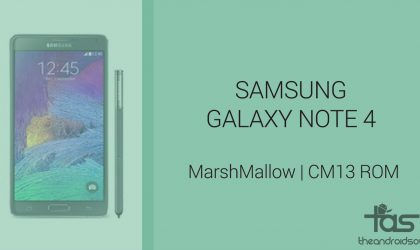 Download Galaxy Note 4 Marshmallow Update: CM13 and other ROMs