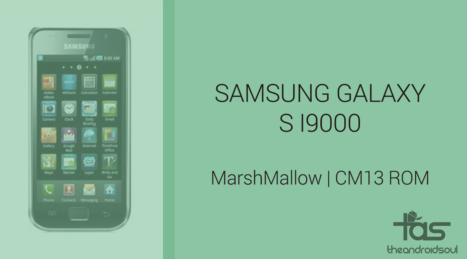 play store pour samsung galaxy s i9000