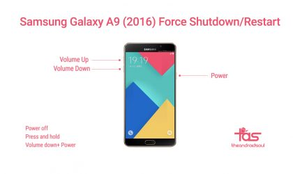 How to Force Shutdown / Restart Samsung Galaxy A9 (2016)
