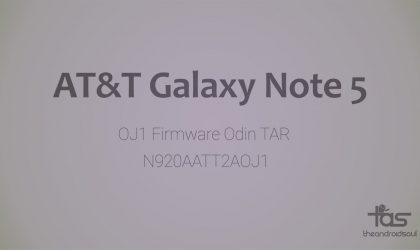 Download AT&T Galaxy Note 5 Firmware N920AATT2AOJ1 [Update, Unbrick, Fix, Unroot, etc.]