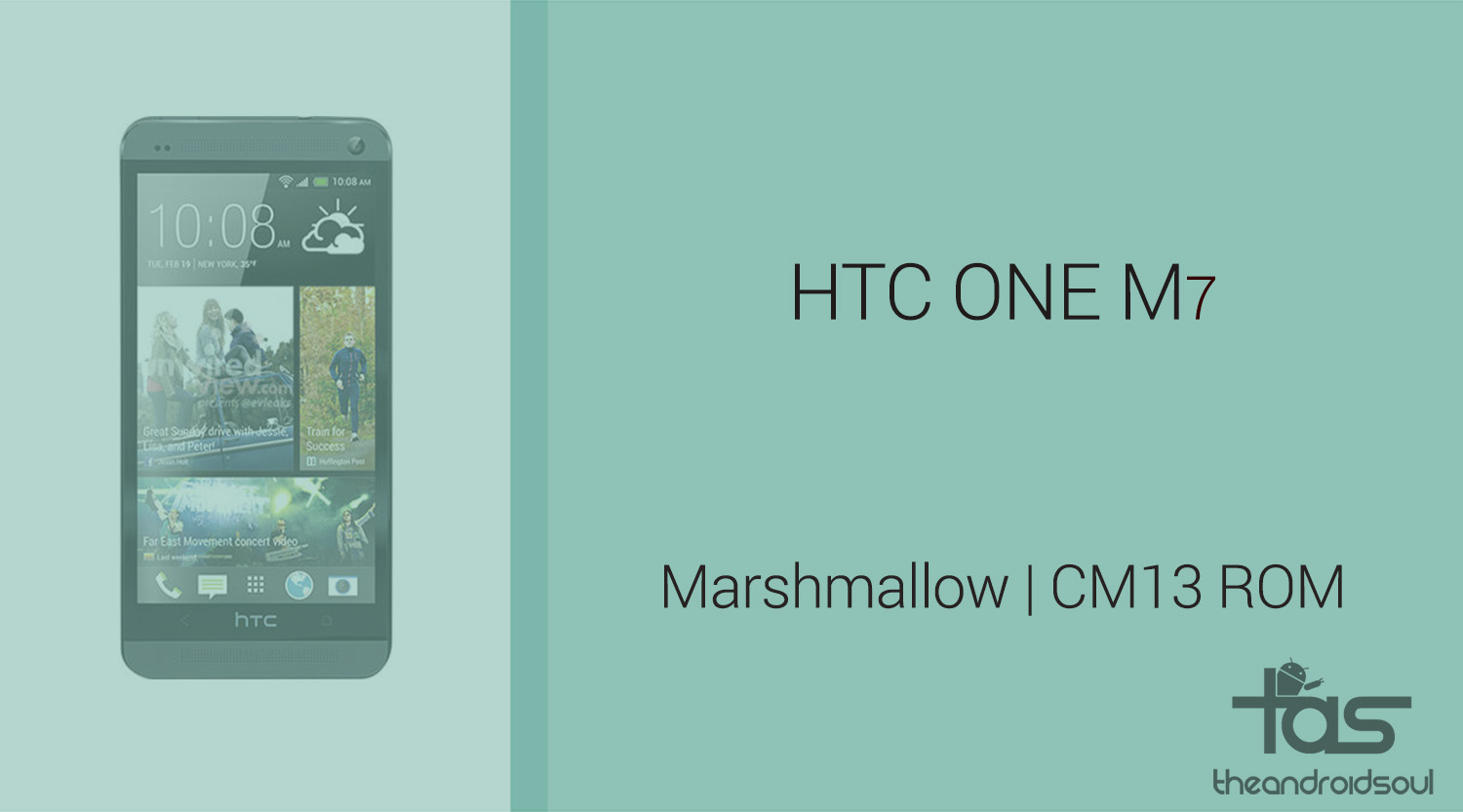 Download htc one m7 marshmallow update: cm13 and other roms.