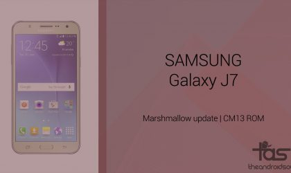 Download Galaxy J7 Marshmallow Update: CM13 and other ROMs