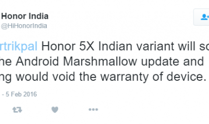 Indian Honor 5X to get Marshmallow Update in next few weeks!