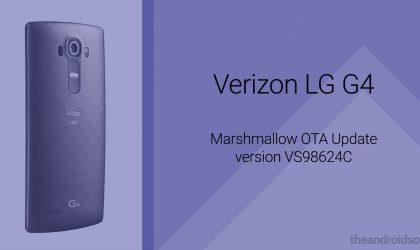 Download the Verizon LG G4 Marshmallow OTA update VS98624C