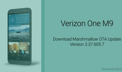 Download Verizon One M9 Marshmallow OTA update version 3.37.605.7