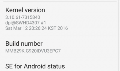 Download Marshmallow update on Galaxy S6 G920i/G925i with build G920IDVU3EPC3 OTA