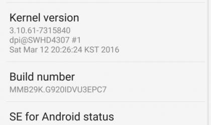 Download Marshmallow update on Galaxy S6 G920i/G925i with build G920IDVU3EPC3 OTA