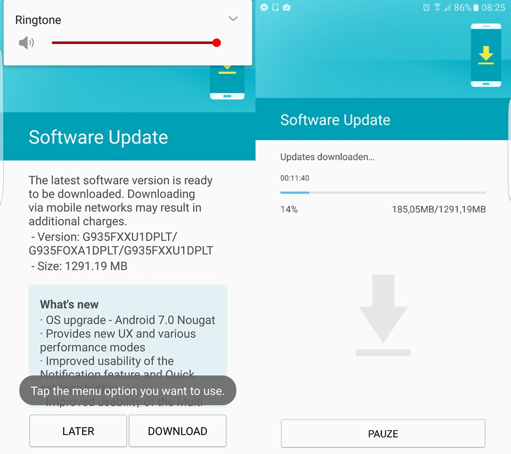 galaxy-s7-Nougat-europe-release