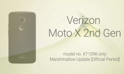 Download Verizon Moto X 2nd Gen (2014) Marshmallow update and root