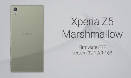 Download Xperia Z5 Marshmallow FTF 32.1.A.1.163 [E6653]