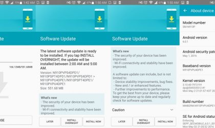 Sprint Galaxy Note 4 receives new Update (PE1)