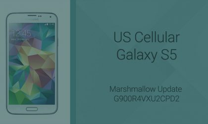 G900R4VXU2CPD2: Download US Cellular Galaxy S5 Marshmallow update firmware