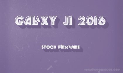 Download Galaxy J1 2016 Firmware