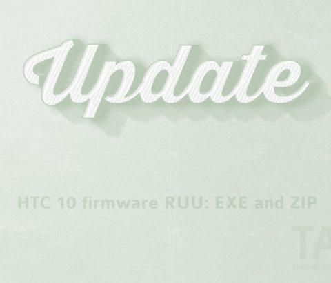 Download HTC 10 firmware: RUU and OTA [Sprint Oreo 3.18.651.3 added]