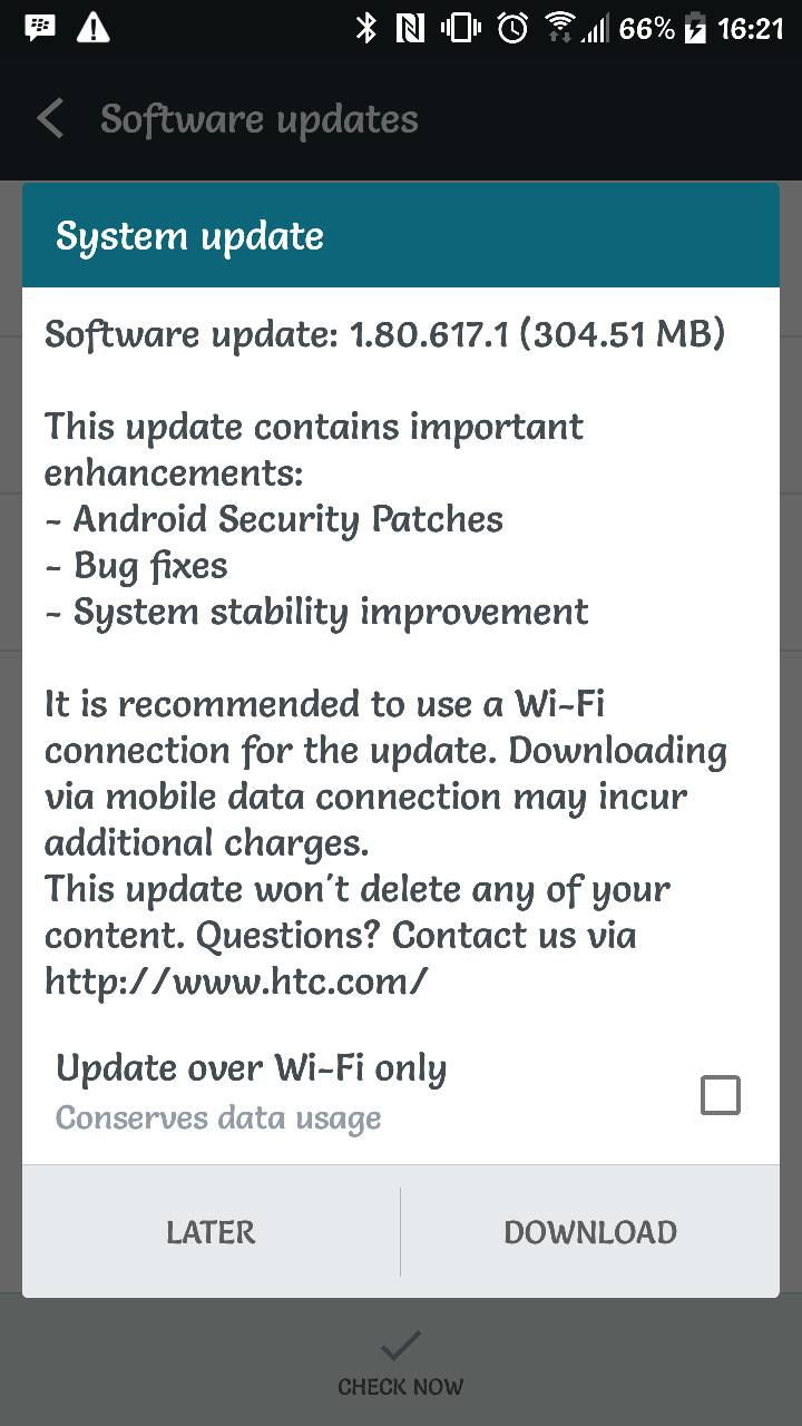 htc 10 update unlocked usa