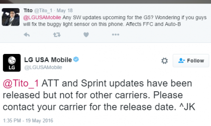 AT&T and Sprint LG G5 to receive light sensor bug fixer update soon, confirm LG USA!