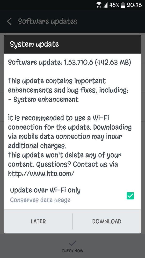 optus htc 10 update