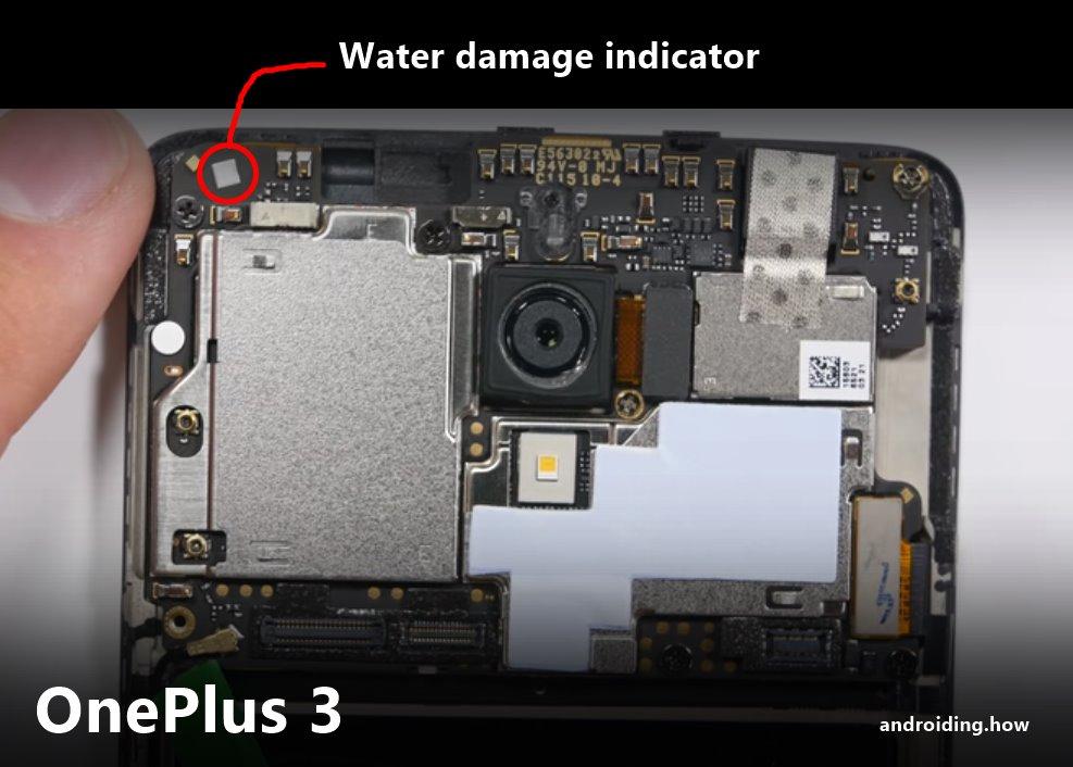 OnePlus 3 Water Damage Indicator
