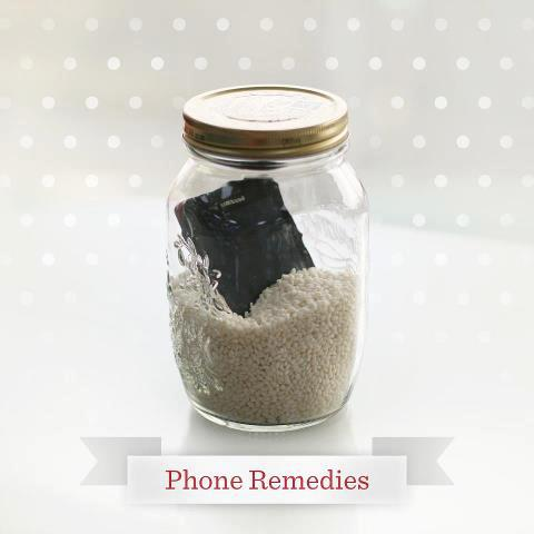 Phone in Rice Jar