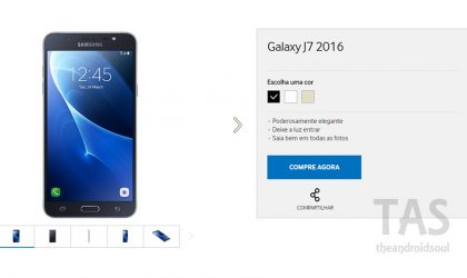 Galaxy J7 2016 launched in Brazil, available at FAST SHOP retail store