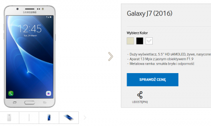 Galaxy J7 2016 released in Poland, available only in retail stores