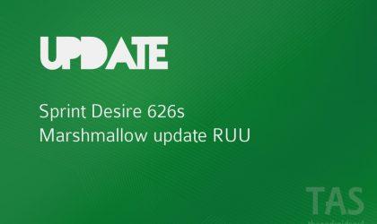Sprint HTC Desire 626s Marshmallow update RUU firmware [Download]