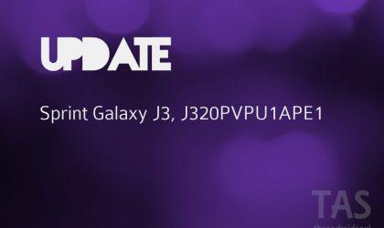 Sprint Galaxy J3 Update: Build J320PVPU1APE1 released!