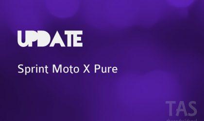 Sprint Moto X Pure receiving new update today
