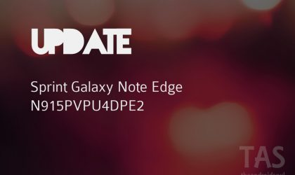 New PE2 update released for Sprint Note Edge (build N915PVPU4DPE2)