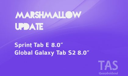 Galaxy Tab S2 and Sprint Tab E up for Marshmallow update treatment