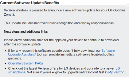 LG Optimus Zone 3 Update: All latest news