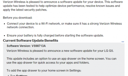 Verizon LG G5 update adds App drawer option for Home screen, V10 also receiving update