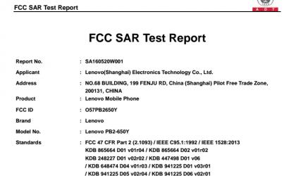 Lenovo Phab2 model PB2-650Y passes through FCC, could be Phab 2 Pro Tango device