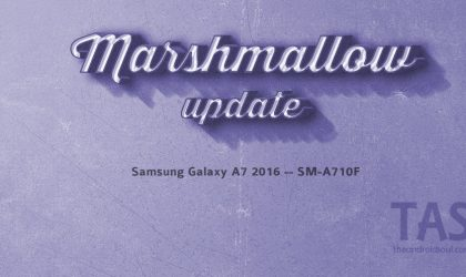 Galaxy A7 2016 gets the Marshmallow update too