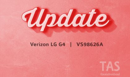 A new update released for the Verizon LG G4