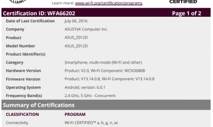 Asus Zenfone 3 gears up for US release, gets Wi-Fi certification