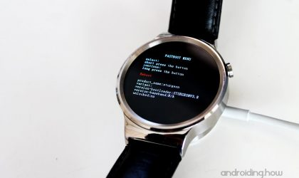 How to Install a Firmware Image on Android Wear Watch via Fastboot