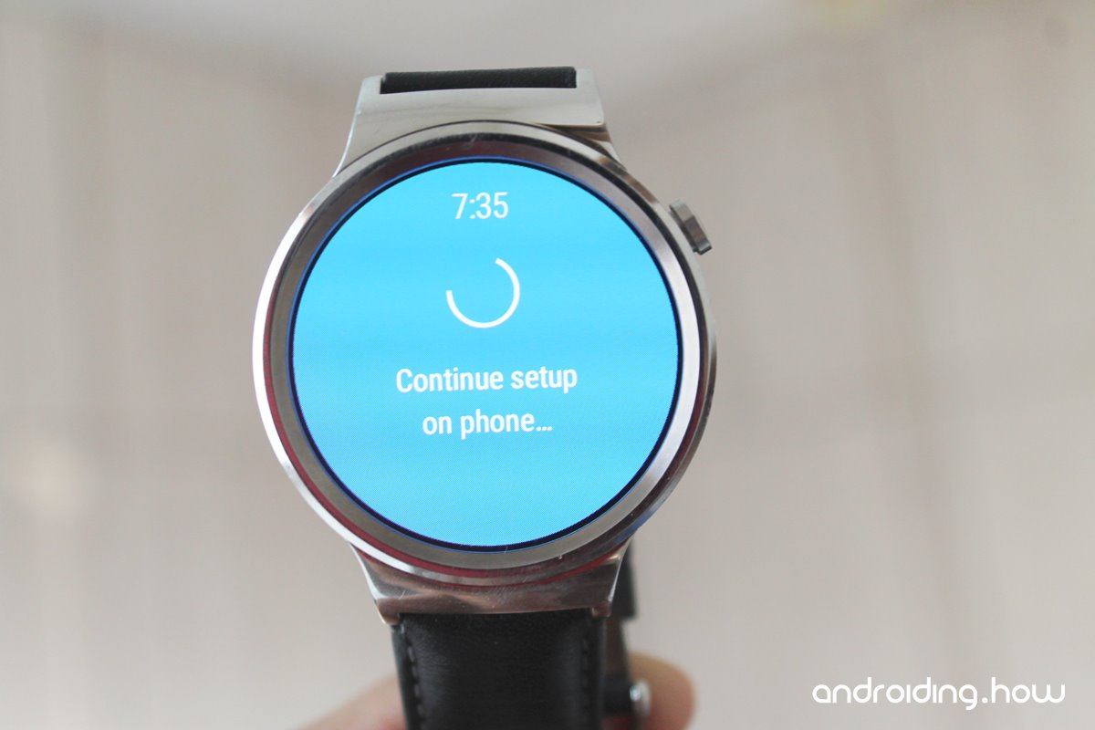 """Android Wear android wear watch stuck on """"continue setup on phone"""
