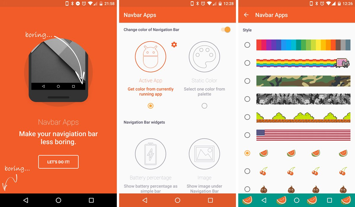 Change Navigation Bar Color to Any color on Android using ...