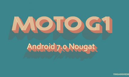 Android Nougat based CM14 for Original Moto G (G1) boots up!