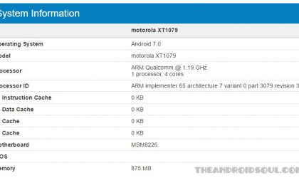 Android 7.0 Nougat spotted on Moto G2 LTE XT1079