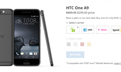 HTC One A9 Deal: Price down to $299 in US