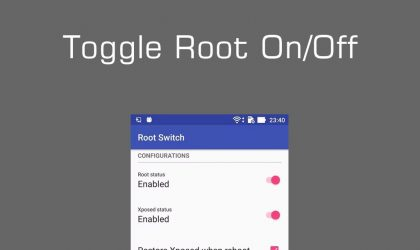 Toggle Root and Xposed On/Off with root-switch App on Zenfone devices, works with SuperSU only