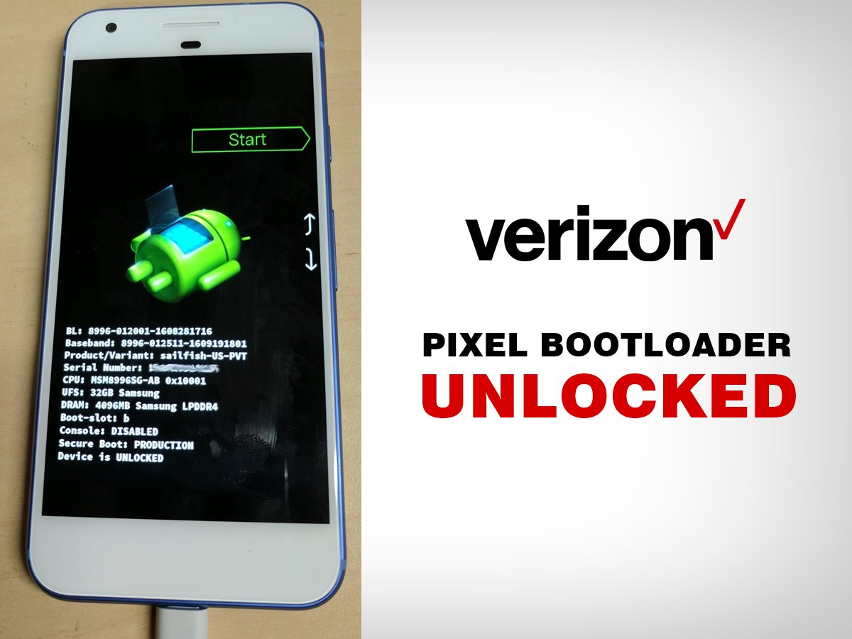 How to Unlock Bootloader on Verizon Pixel and Pixel XL using