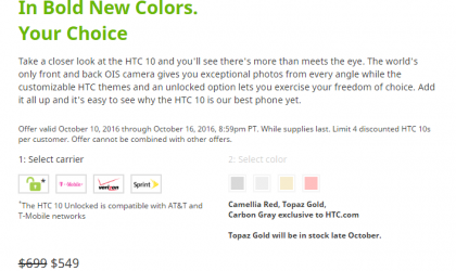 HTC 10 Deal: Buy one and get another HTC device free